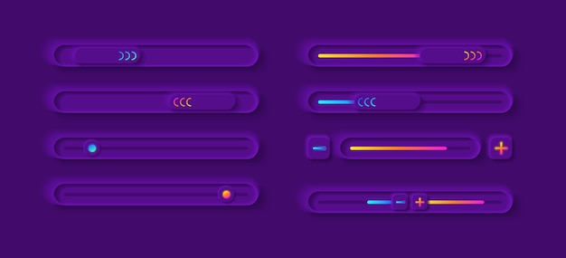 Kit d'éléments d'interface utilisateur du panneau de réglage