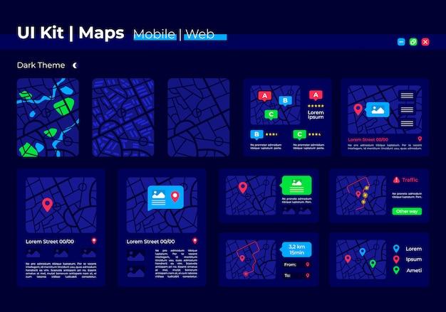 Kit d'éléments d'interface utilisateur de position gps