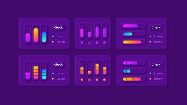 Kit d'éléments d'interface utilisateur de réglages