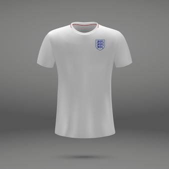 Kit de football d'angleterre, modèle de tshirt pour maillot de football