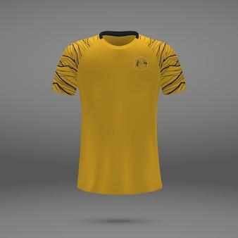 Kit de football de l'australie, modèle de tshirt pour maillot de football