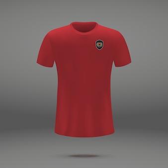 Kit de football de la corée du sud, modèle de tshirt pour le maillot de football