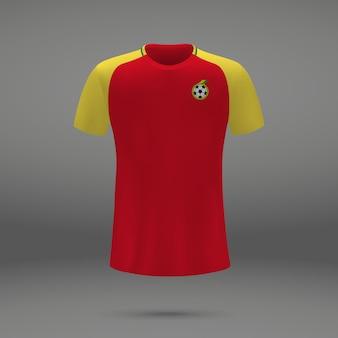 Kit de football du ghana, modèle de tshirt pour le maillot de football
