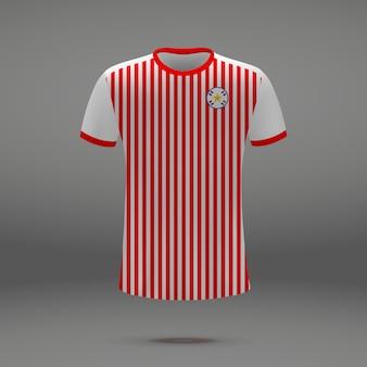 Kit de football du paraguay, modèle de tshirt pour maillot de football