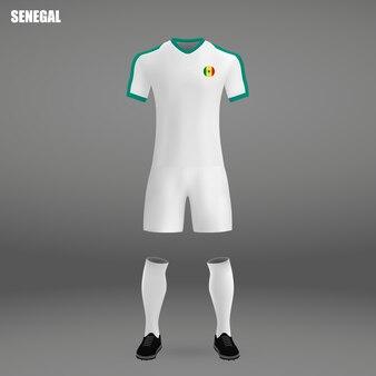 Kit de football du sénégal, modèle de tshirt pour maillot de football