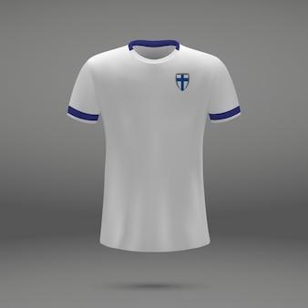 Kit de football de la finlande, modèle de tshirt pour le maillot de football