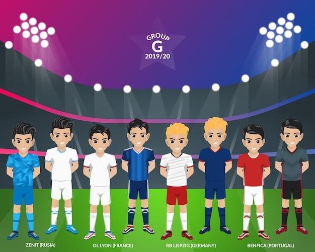 Kit football football du championnat d'europe groupe g