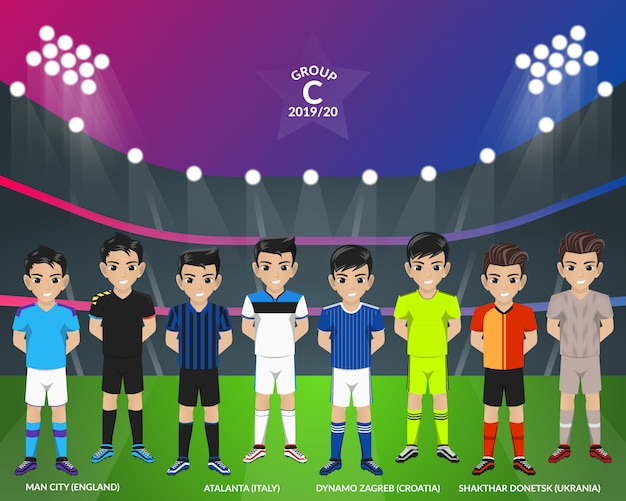 Kit football football du championnat d'europe groupe c