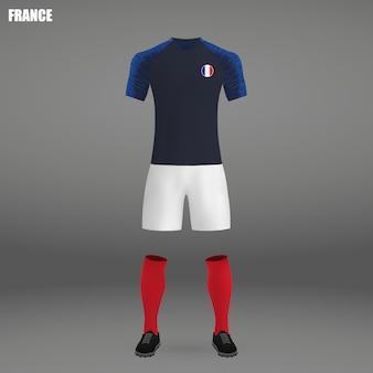 Kit de football de france, modèle de tshirt pour maillot de football