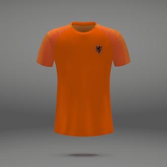 Kit de football des pays-bas, modèle de tshirt pour le maillot de football