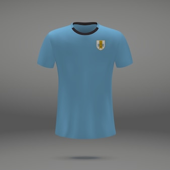 Kit de football de l'uruguay, modèle de tshirt pour le maillot de football