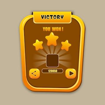 Kit d'interface utilisateur victory