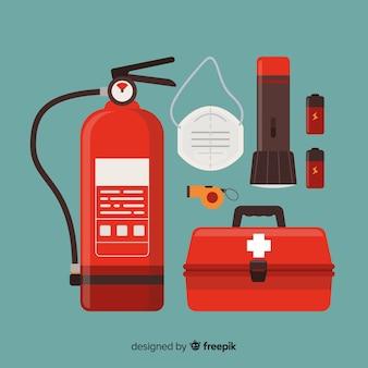 Kit de survie d'urgence moderne au design plat