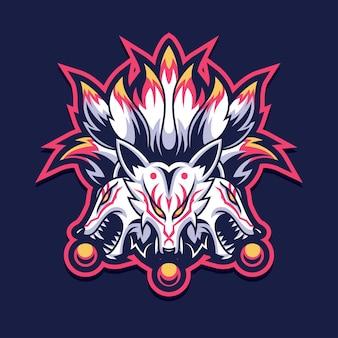Kitsune fox gaming logo