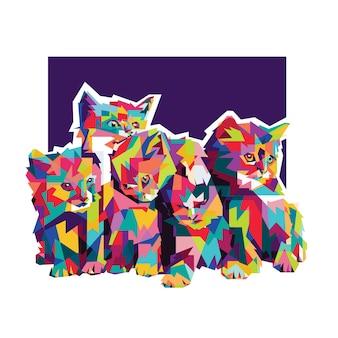 Kitties coloré