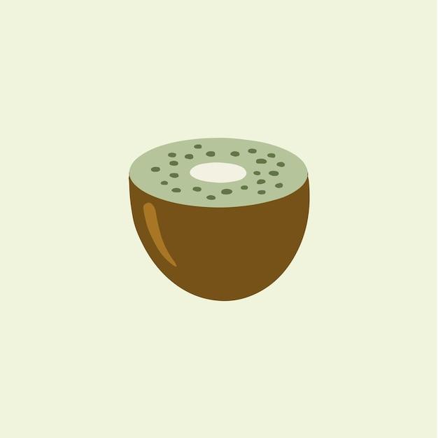 Kiwi fruit tranche symbole fruit illustration vectorielle