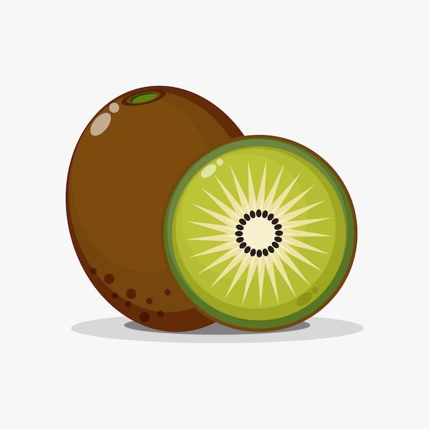 Kiwis et tranches de kiwi