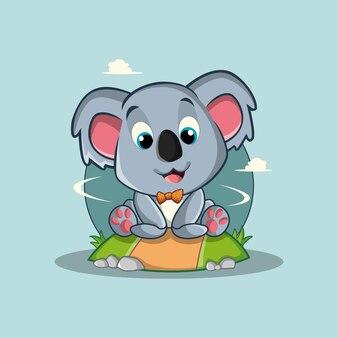 Koala de dessin animé mignon