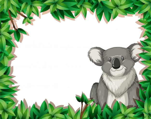 Koala en fond de nature