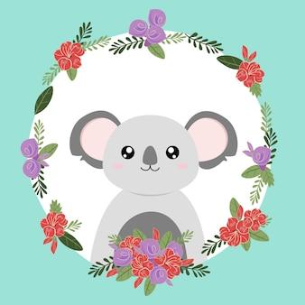 Koala mignon animal dessiné à la main