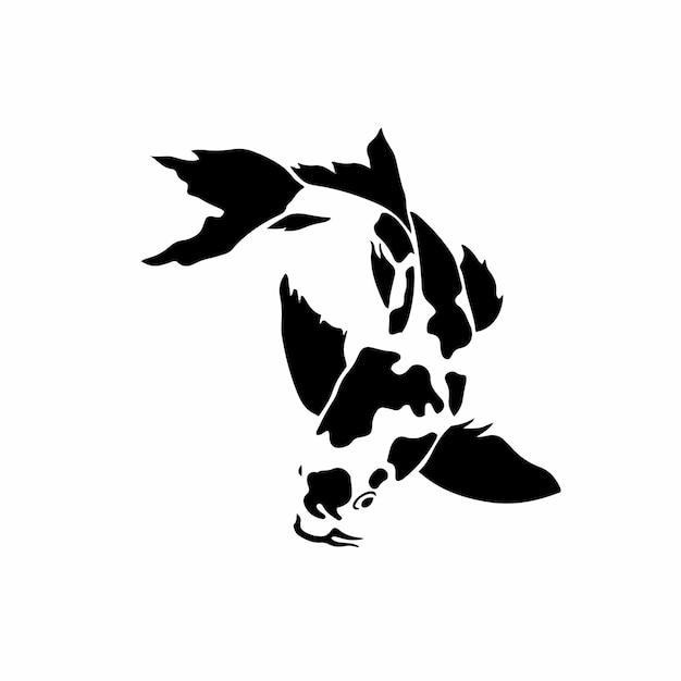 Koi fish symbole logo illustration vectorielle
