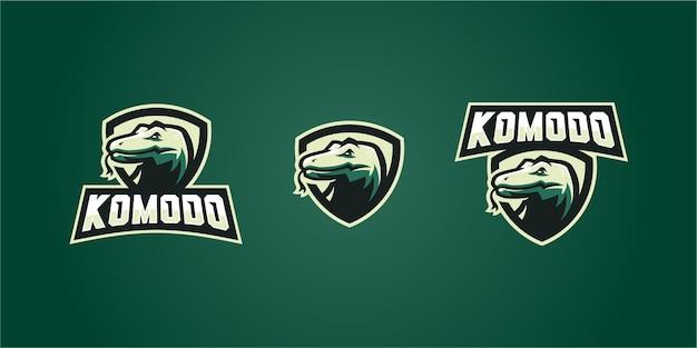 Komodo dragon sport logo bouclier emblème autocollant