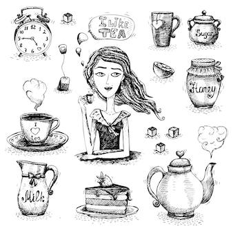 L'amour de la scène du thé