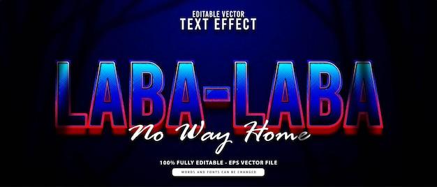 Laba-laba, effet de texte modifiable de super-héros moderne dégradé bleu adapté au cinéma, titre de film