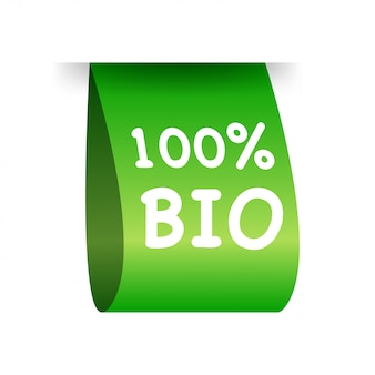 Label 100% bio. naturel, biologique.