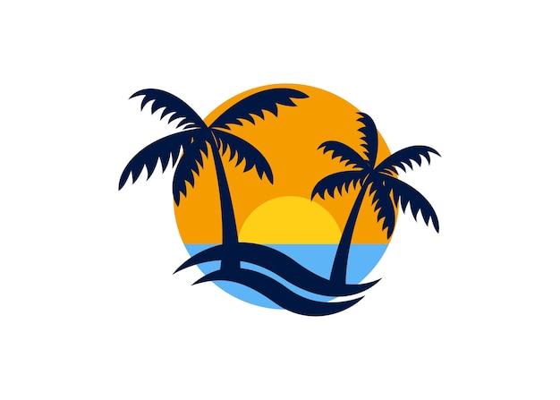 Label de conception de vacances d'été
