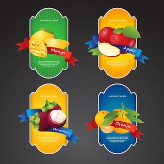 Label design-fruits frais