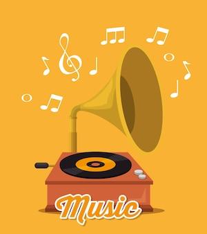 Label de festival de musique gramophone