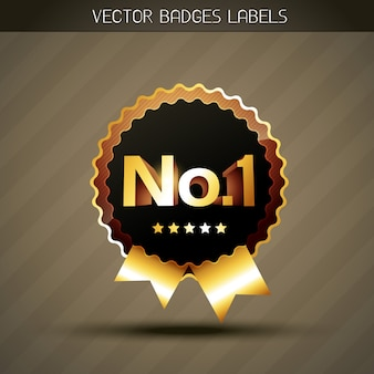 Label gagnant d'or