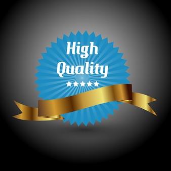 Label de haute qualité. signe d'illustration vectorielle.