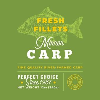 Label de qualité premium filets frais