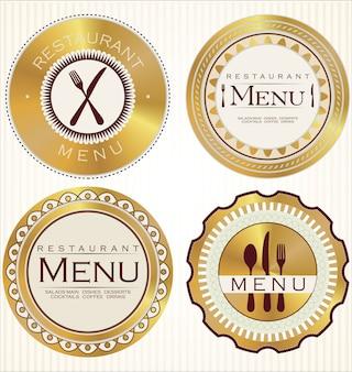 Label set pour restaurant et café, collection