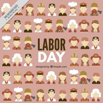 Labor day background avec des professionnels