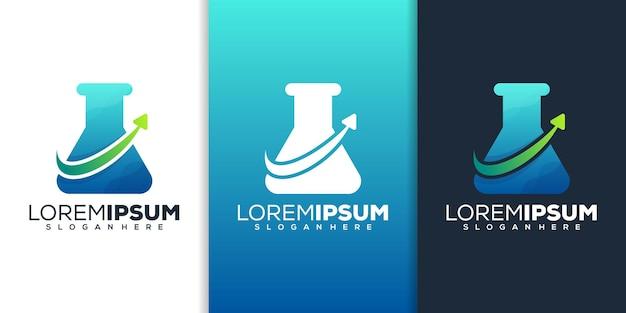 Laboratoire avec création de logo de flèche