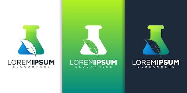 Laboratoire avec création de logo de plume