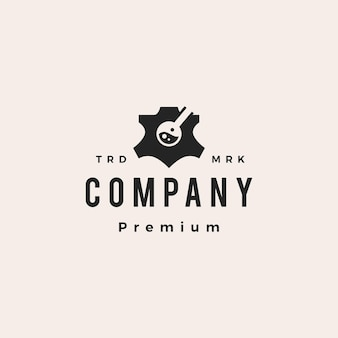 Laboratoire de cuir hipster vintage logo vector icon illustration