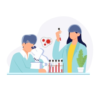 Laboratoire médical conceptuel.