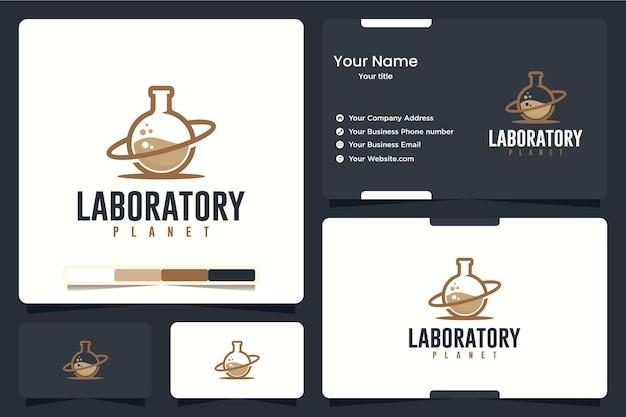 Laboratoire, planète, inspiration de conception de logo