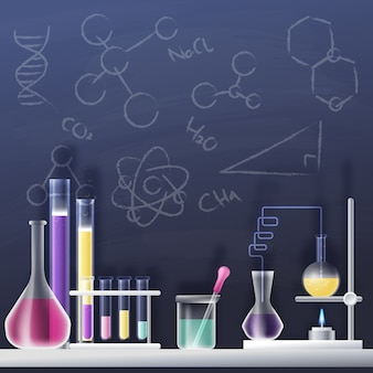 Laboratoire scientifique réaliste et créatif