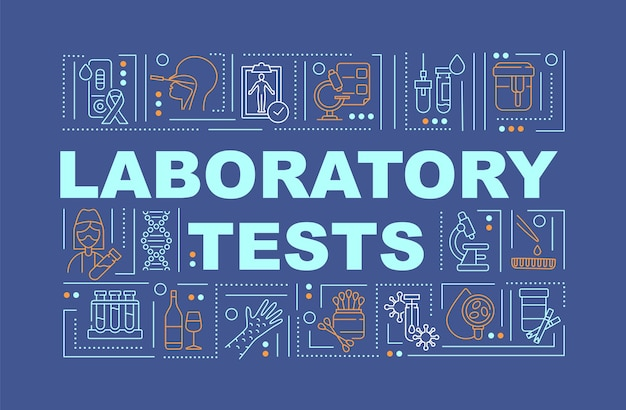 Laboratoire tests mot concepts bannières illustrations