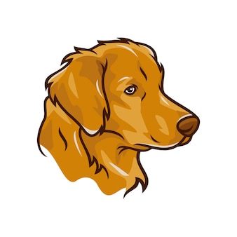 Labrador retriever dog - vecteur logo / icône illustration mascotte