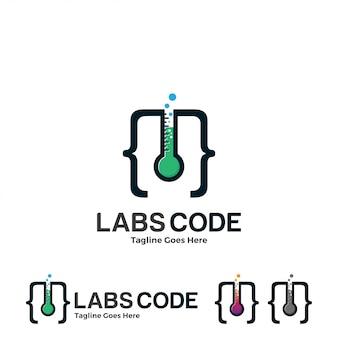 Labs et illustration de logo de code