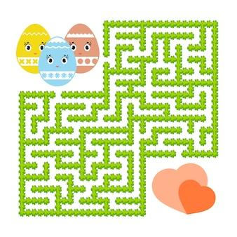 Labyrinthe abstrait de couleur. feuilles de travail pour enfants. page d'activité. puzzle de jeu pour les enfants.