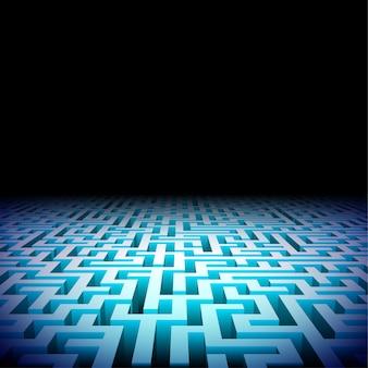 Labyrinthe abstrait dans l'obscurité