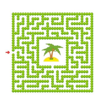 Labyrinthe abstrait. jeu pour les enfants. puzzle pour enfants. style de bande dessinée.