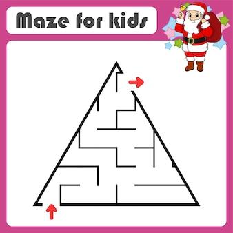 Labyrinthe abstrait. jeu pour les enfants. puzzle pour les enfants.